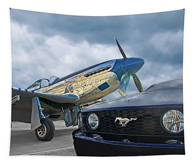 Mustang Gt With P51 Tapestry