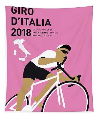 My Giro Ditalia Minimal Poster 2018 Tapestry