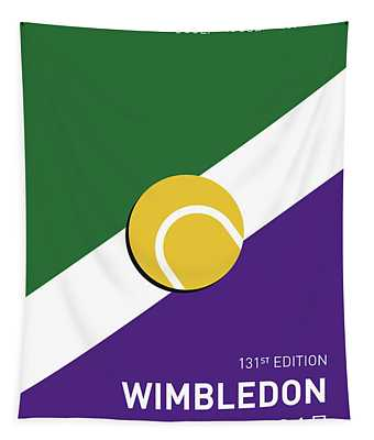 My Grand Slam 03 Wimbeldon Open 2017 Minimal Poster Tapestry
