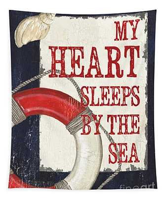My Heart Sleeps By The Sea Tapestry