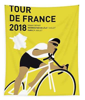 My Tour De France Minimal Poster 2018 Tapestry
