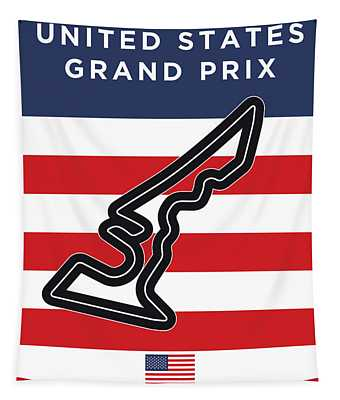 My United States Grand Prix Minimal Poster Tapestry
