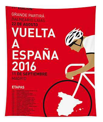 My Vuelta A Espana Minimal Poster 2016 Tapestry
