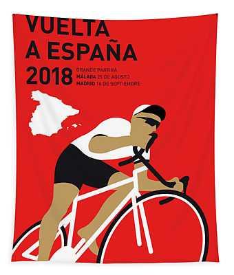 My Vuelta A Espana Minimal Poster 2018 Tapestry