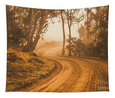 Mysterious Autumn Trail Tapestry