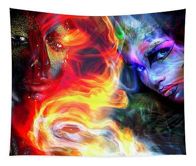 Mysterious Eyes Tapestry