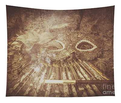 Mysterious Vintage Masquerade Tapestry