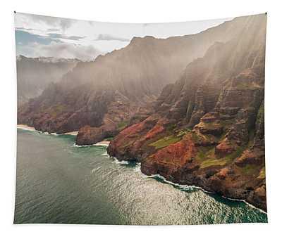 Na Pali Coast 4 - Kauai Hawaii Tapestry