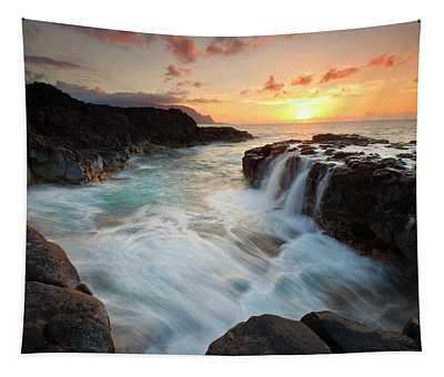 Na Pali Sunset Tapestry