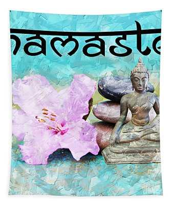 Namaste Buddha Tapestry