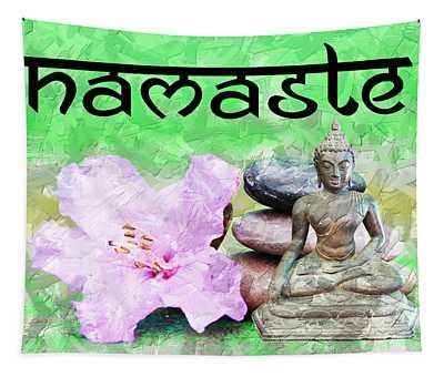 Namaste Buddha. V2 Tapestry