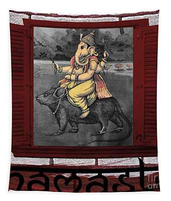 Namaste Ganapati Tapestry