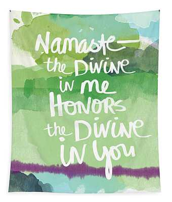 Namaste- Watercolor Card Tapestry