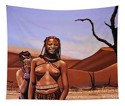 Himba Girls Of Namibia Tapestry