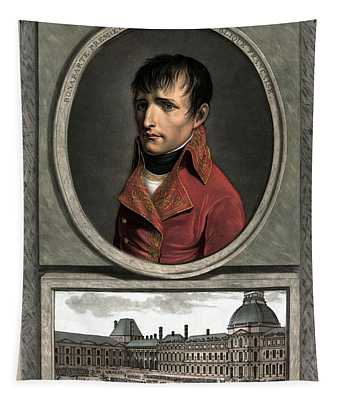 Napoleon Bonaparte And Troop Review Tapestry