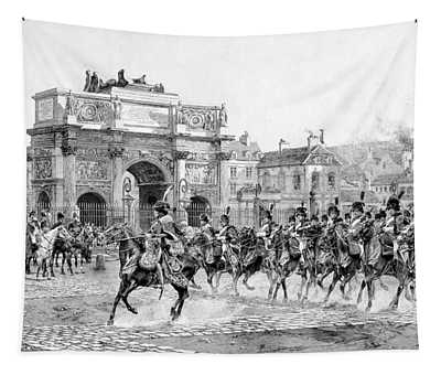 Napoleon Reviewing His Troops Tapestry