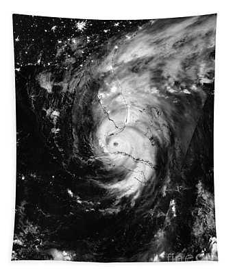 Nasa Hurricane Irma Between Cuba And Florida Satellite Image Tapestry