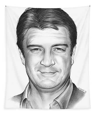 Nathan Fillion Tapestry