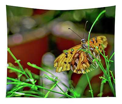 Nature - Butterfly And Plants Tapestry
