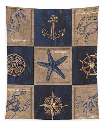 Nautical Burlap Tapestry