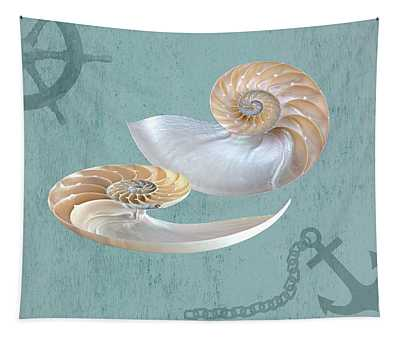 Nautical Nautilus Tapestry