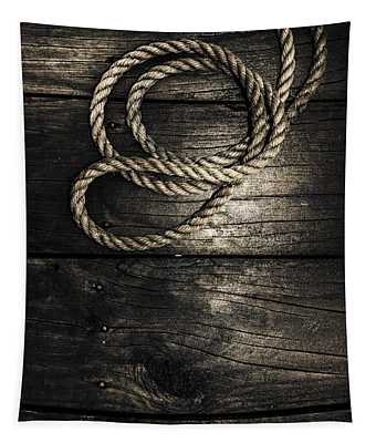 Nautical Rope On Boat Deck. Maritime Knots Tapestry