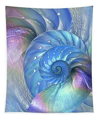 Nautilus Shells Blue And Purple Tapestry