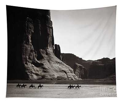 Tapestry featuring the photograph Navajos Canyon De Chelly, 1904 by Granger