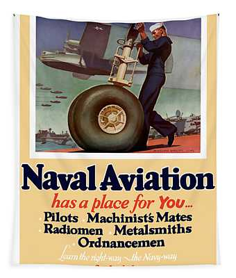 Naval Aviation Has A Place For You Tapestry