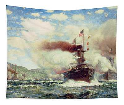 Naval Battle Explosion Tapestry