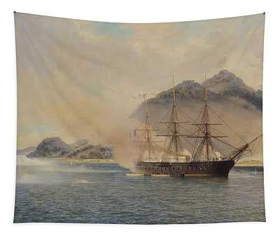 Naval Battle Of The Strait Of Shimonoseki Tapestry