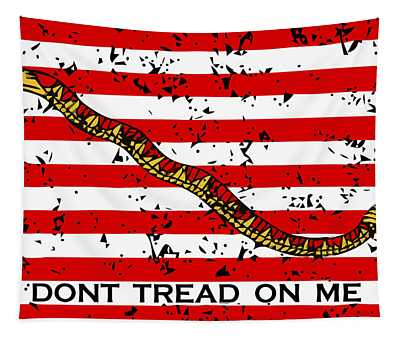 Navy Jack Flag - Don't Tread On Me Tapestry