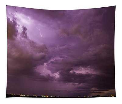 Nebraska Night Thunderstorm Beast 001 Tapestry