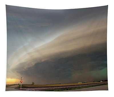 Nebraska Thunderstorm Eye Candy 026 Tapestry