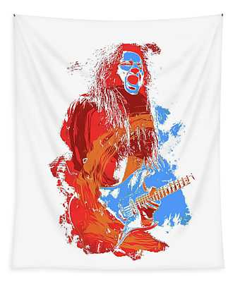Neoclassical Guitarist Tapestry by Andrea Mazzocchetti