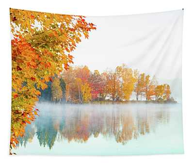 New England Fall Colors Of Maine Tapestry
