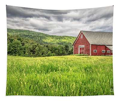 New England Farm Landscape Tapestry