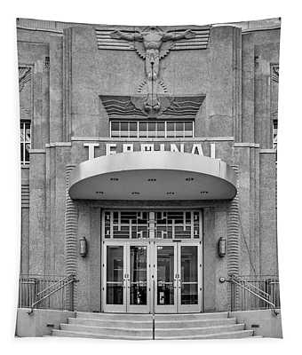 New Orleans Lakefront Airport Bw Tapestry