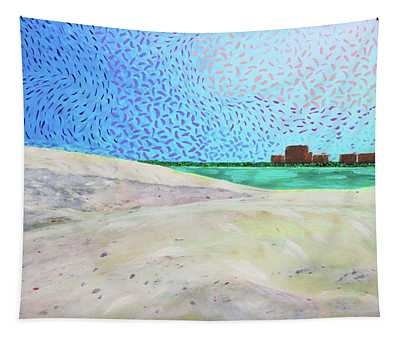 New Smyrna Beach As Seen From A Dune On Ponce Inlet Tapestry