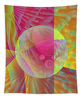 Tapestry featuring the digital art New Worlds Exploration by Joy McKenzie