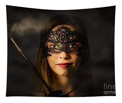 New Years Eve Mask Party Tapestry