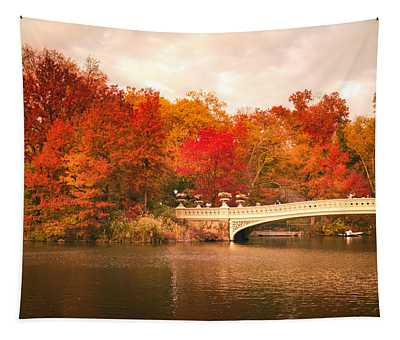 New York City In Autumn - Central Park Tapestry