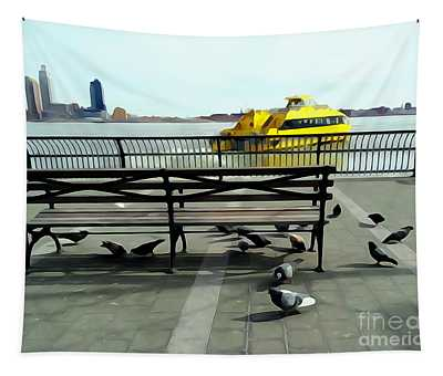 New York City Pigeons #2 Tapestry