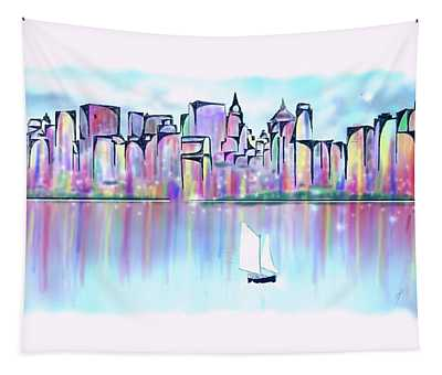 New York City Scape Tapestry