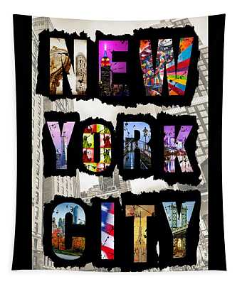 New York City Text Tapestry