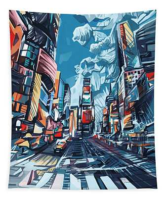 New York City-times Square Tapestry