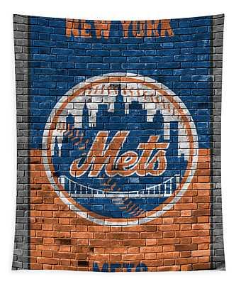 New York Mets Brick Wall Tapestry