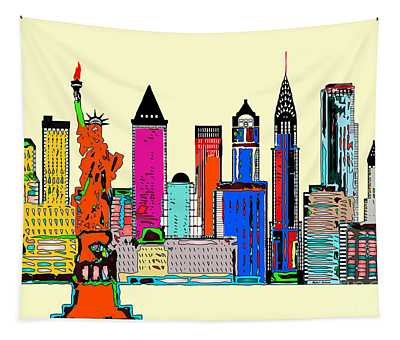 New York - The Big City Tapestry