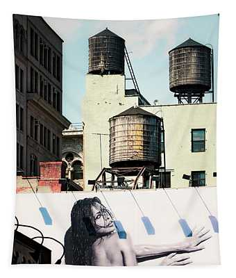 New York Water Towers 15 Tapestry