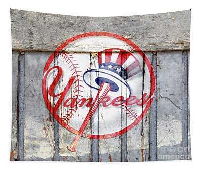 New York Yankees Top Hat Rustic 2 Tapestry